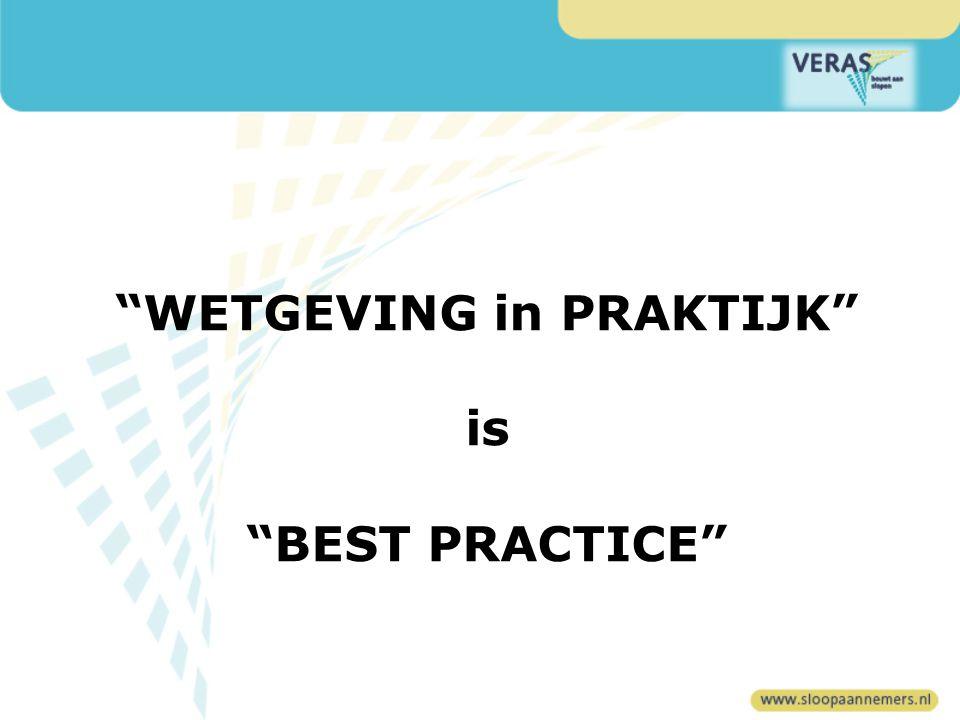 WETGEVING in PRAKTIJK is BEST PRACTICE