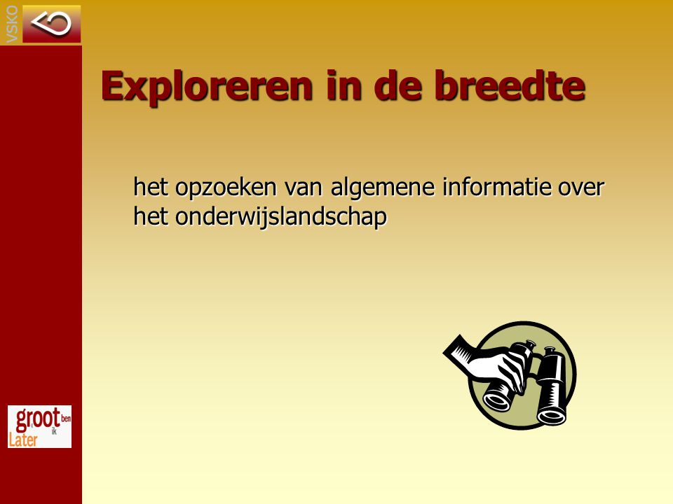 Exploreren in de breedte