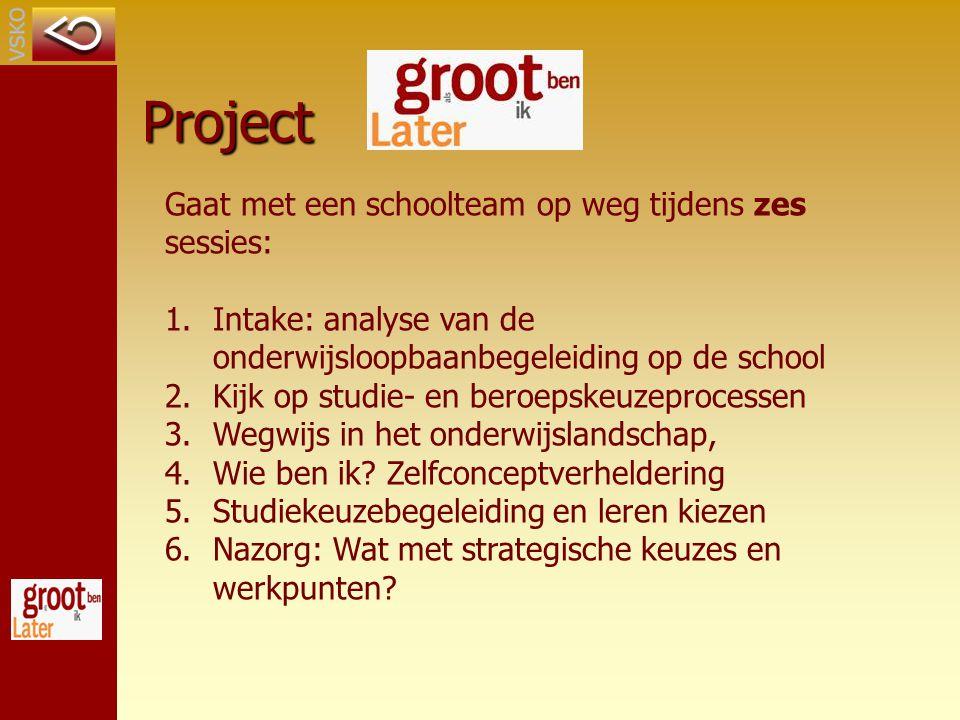 Project Gaat met een schoolteam op weg tijdens zes sessies:
