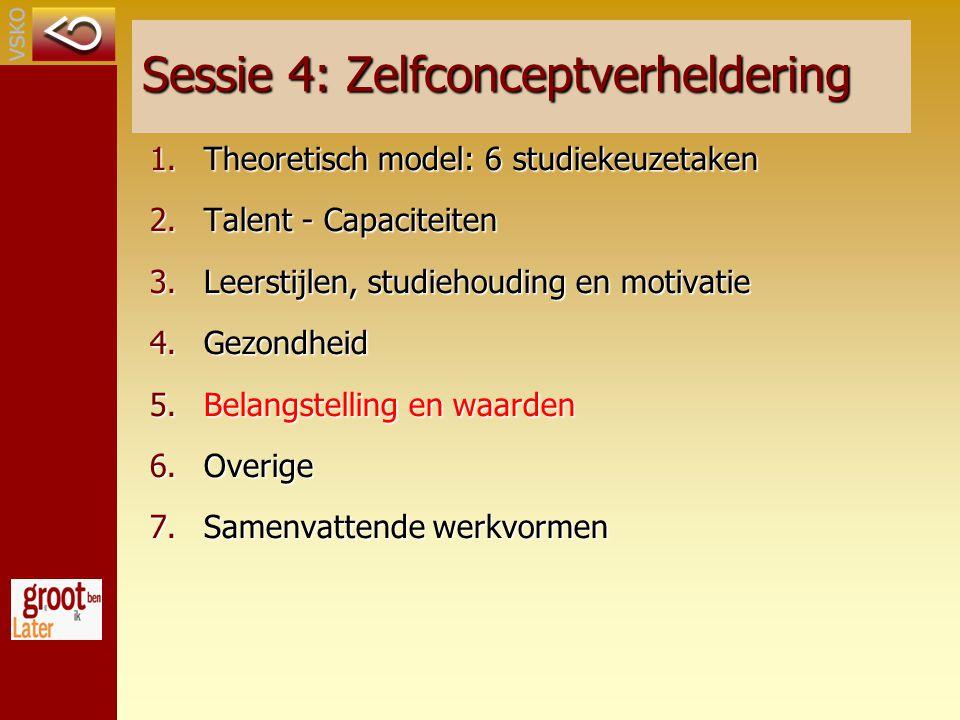 Sessie 4: Zelfconceptverheldering