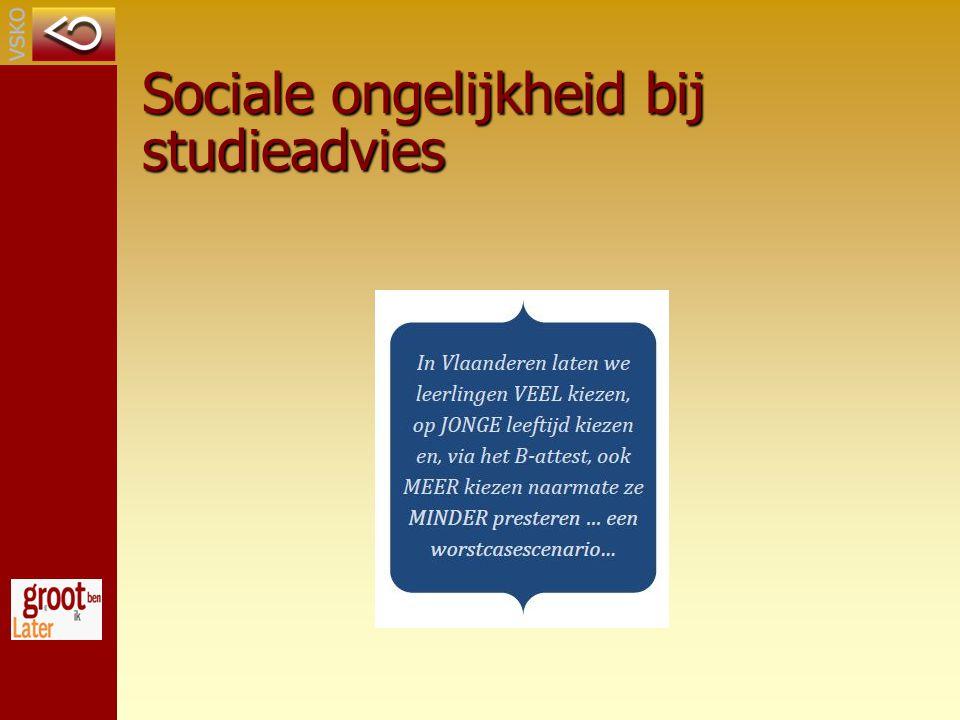 Sociale ongelijkheid bij studieadvies