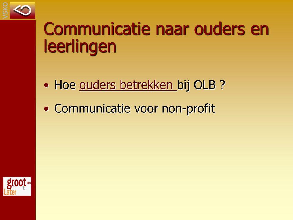 Communicatie naar ouders en leerlingen