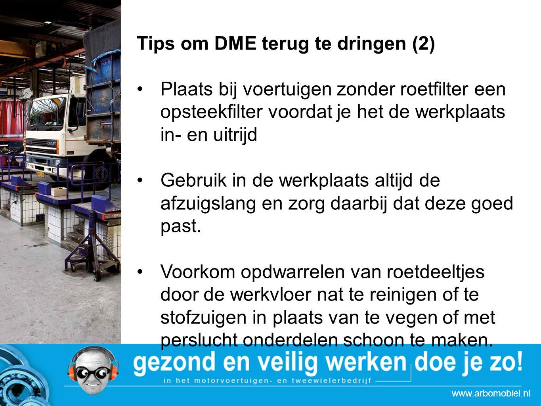 Tips om DME terug te dringen (2)