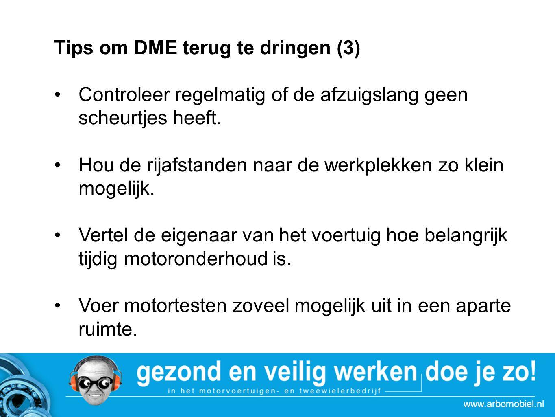 Tips om DME terug te dringen (3)