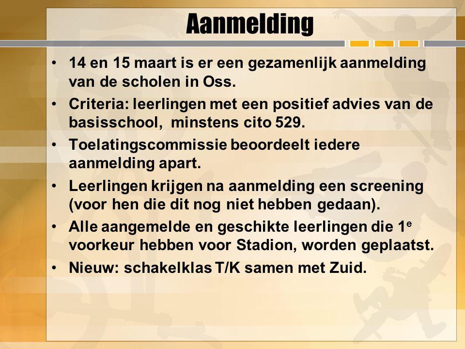 Aanmelding 14 en 15 maart is er een gezamenlijk aanmelding van de scholen in Oss.