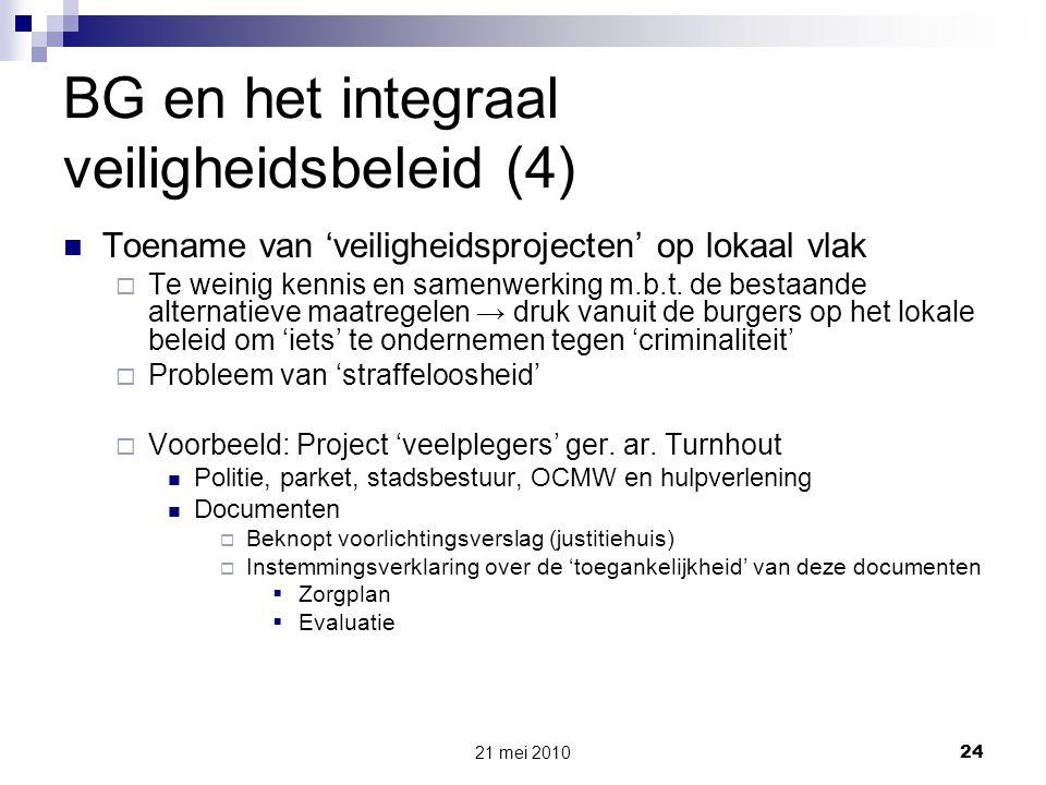 BG en het integraal veiligheidsbeleid (4)