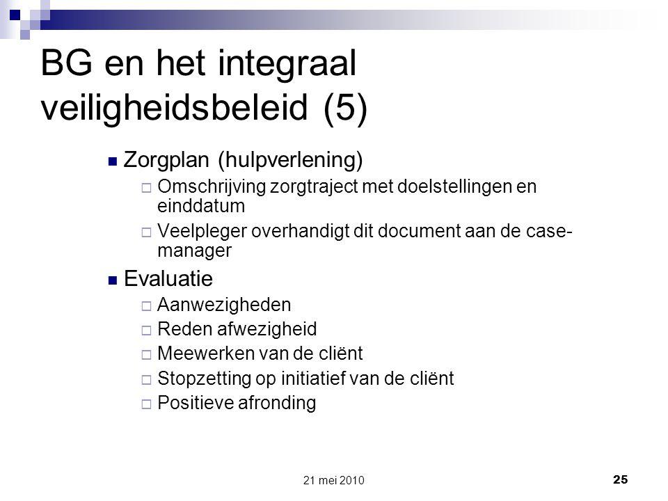 BG en het integraal veiligheidsbeleid (5)