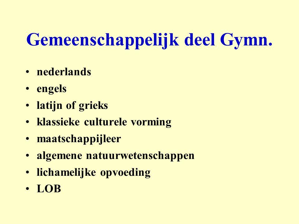 Gemeenschappelijk deel Gymn.