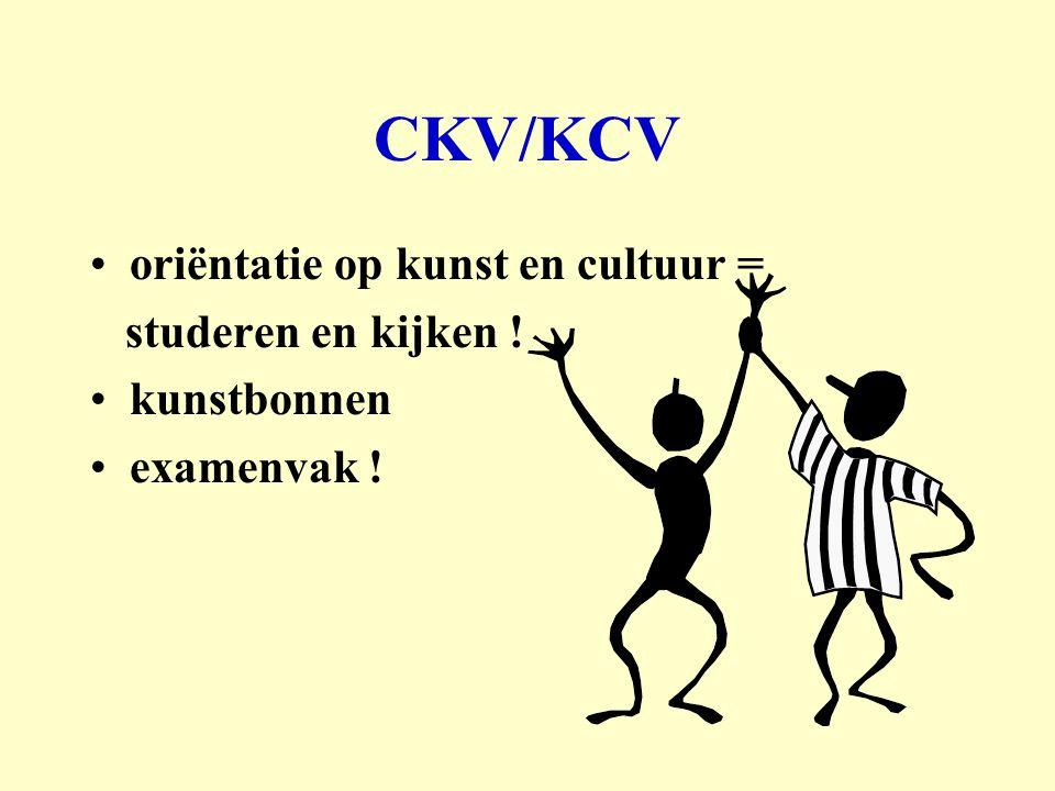 CKV/KCV oriëntatie op kunst en cultuur = studeren en kijken !