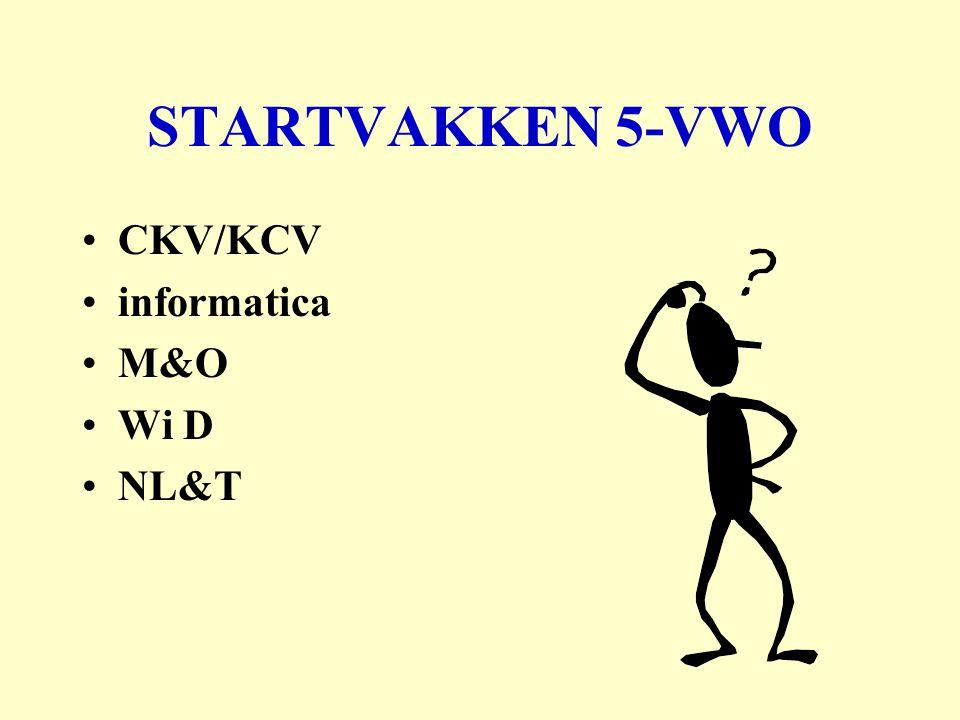 STARTVAKKEN 5-VWO CKV/KCV informatica M&O Wi D NL&T