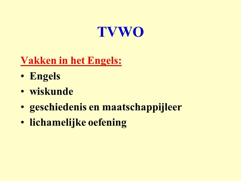 TVWO Vakken in het Engels: Engels wiskunde