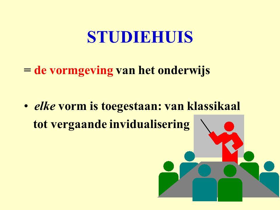 STUDIEHUIS = de vormgeving van het onderwijs