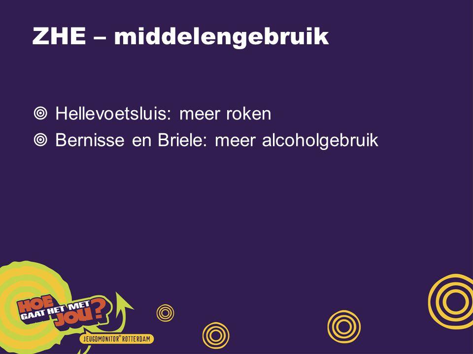 ZHE – middelengebruik Hellevoetsluis: meer roken