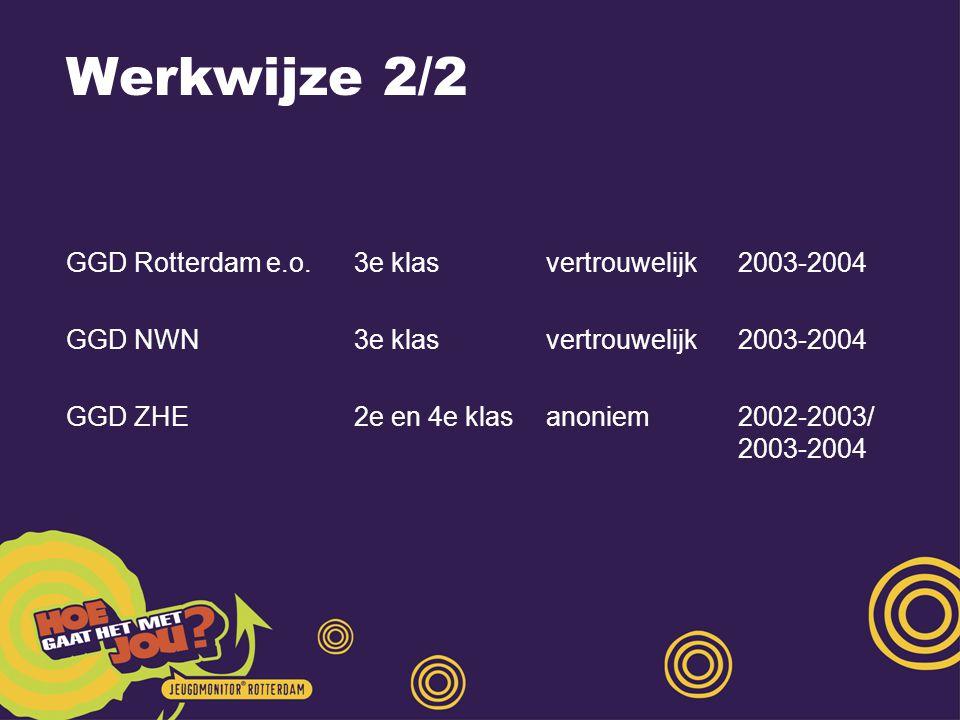 Werkwijze 2/2 GGD Rotterdam e.o. 3e klas vertrouwelijk 2003-2004