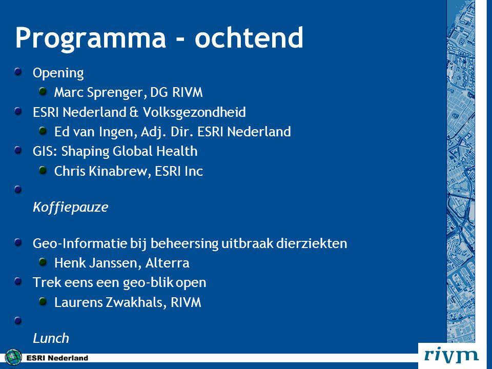 Programma - ochtend Opening Marc Sprenger, DG RIVM