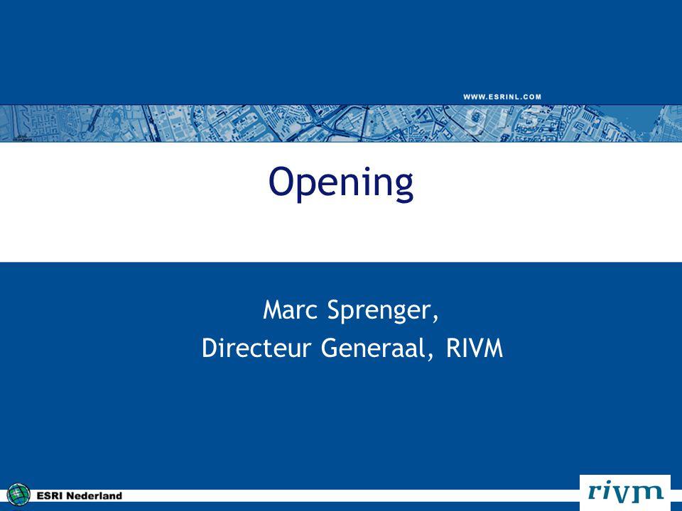 Marc Sprenger, Directeur Generaal, RIVM