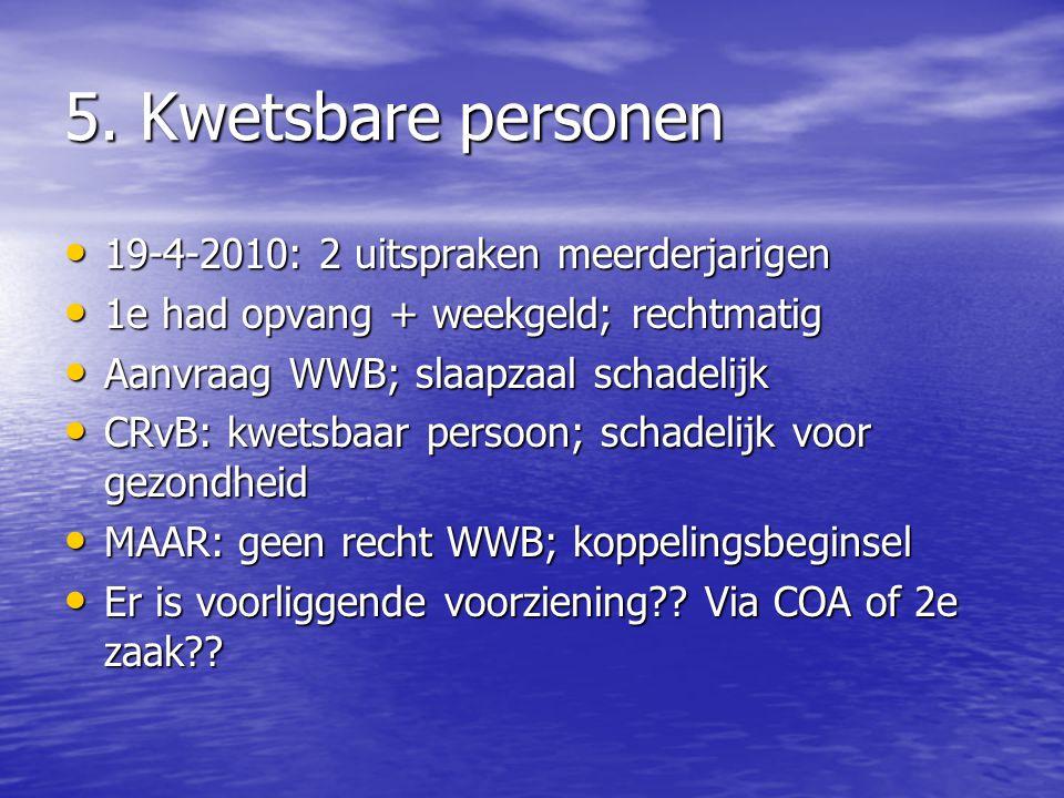 5. Kwetsbare personen 19-4-2010: 2 uitspraken meerderjarigen