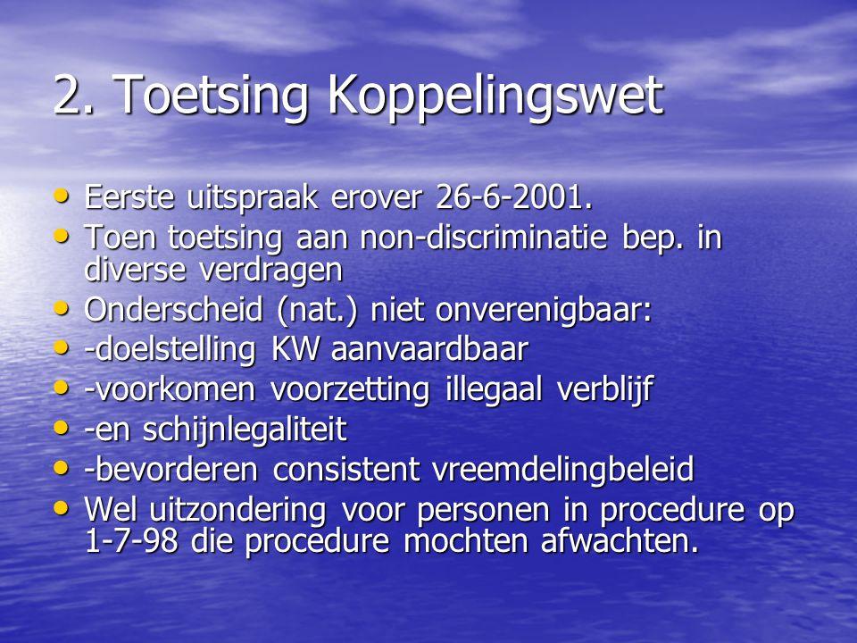 2. Toetsing Koppelingswet