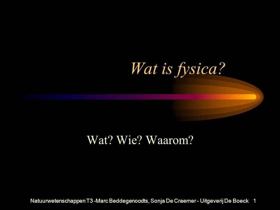 Wat is fysica Wat Wie Waarom