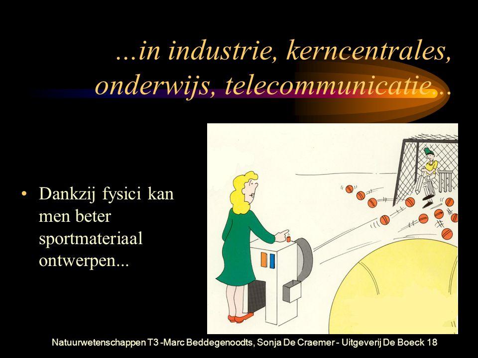 ...in industrie, kerncentrales, onderwijs, telecommunicatie...
