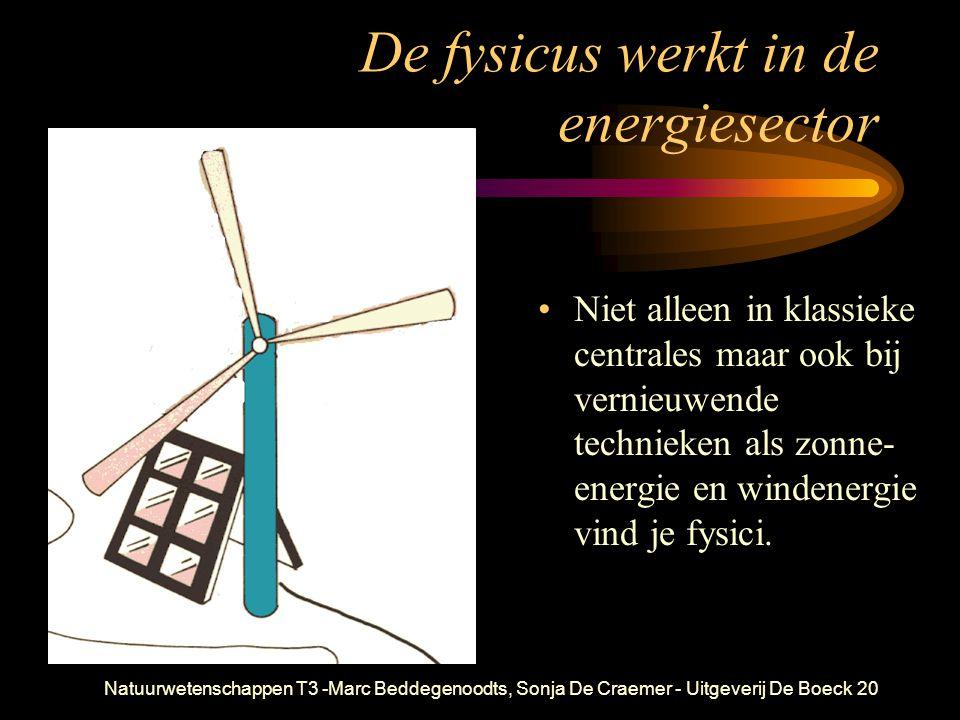 De fysicus werkt in de energiesector