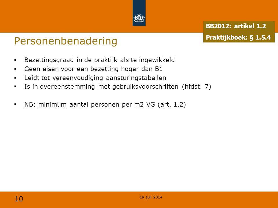 Personenbenadering BB2012: artikel 1.2 Praktijkboek: § 1.5.4