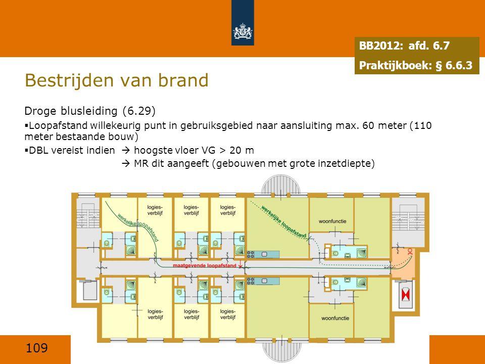 Bestrijden van brand BB2012: afd. 6.7 Praktijkboek: § 6.6.3