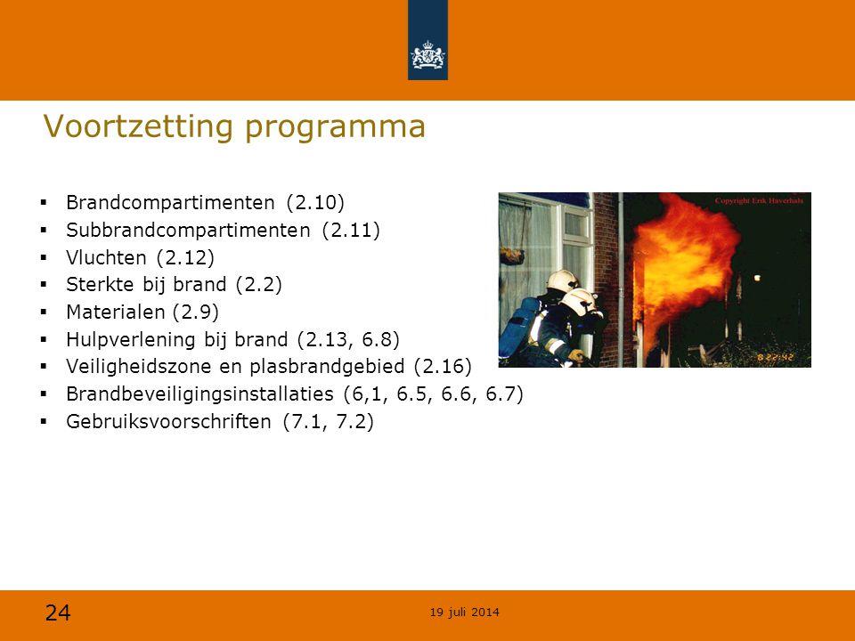 Voortzetting programma