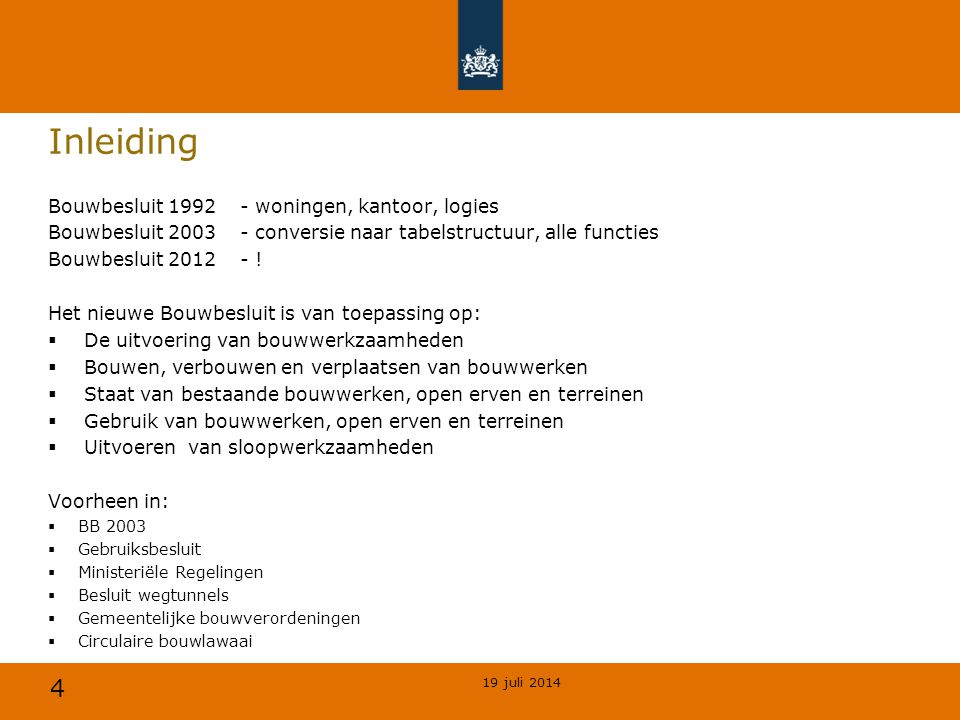 Inleiding Bouwbesluit 1992 - woningen, kantoor, logies