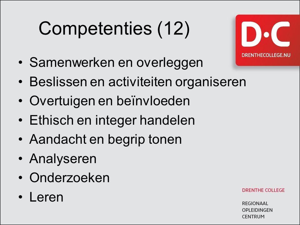 Competenties (12) Samenwerken en overleggen