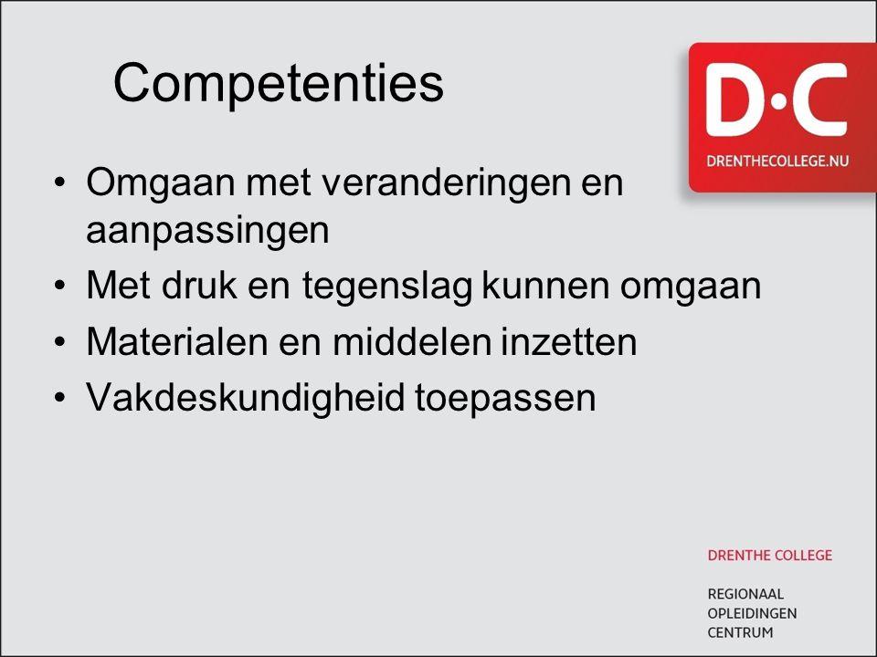 Competenties Omgaan met veranderingen en aanpassingen