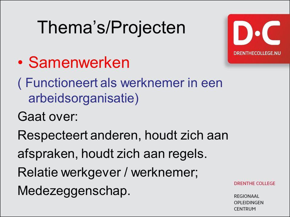 Thema's/Projecten Samenwerken