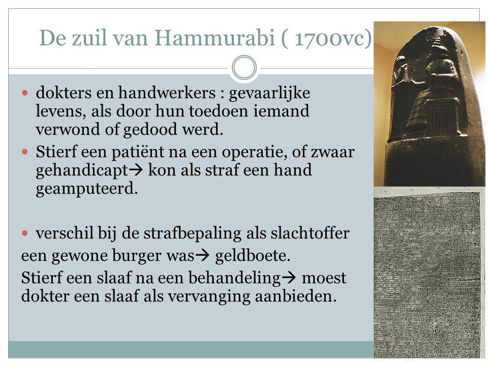 De zuil van Hammurabi ( 1700vc)