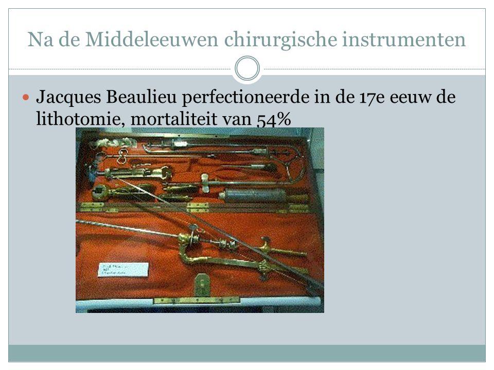 Na de Middeleeuwen chirurgische instrumenten