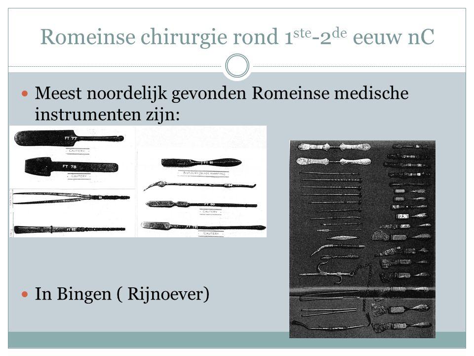 Romeinse chirurgie rond 1ste-2de eeuw nC