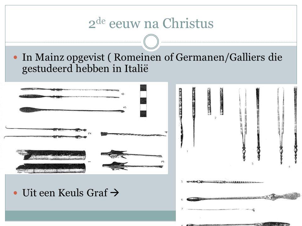 2de eeuw na Christus In Mainz opgevist ( Romeinen of Germanen/Galliers die gestudeerd hebben in Italië.
