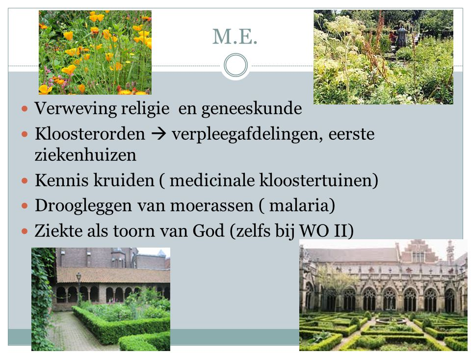 M.E. Verweving religie en geneeskunde