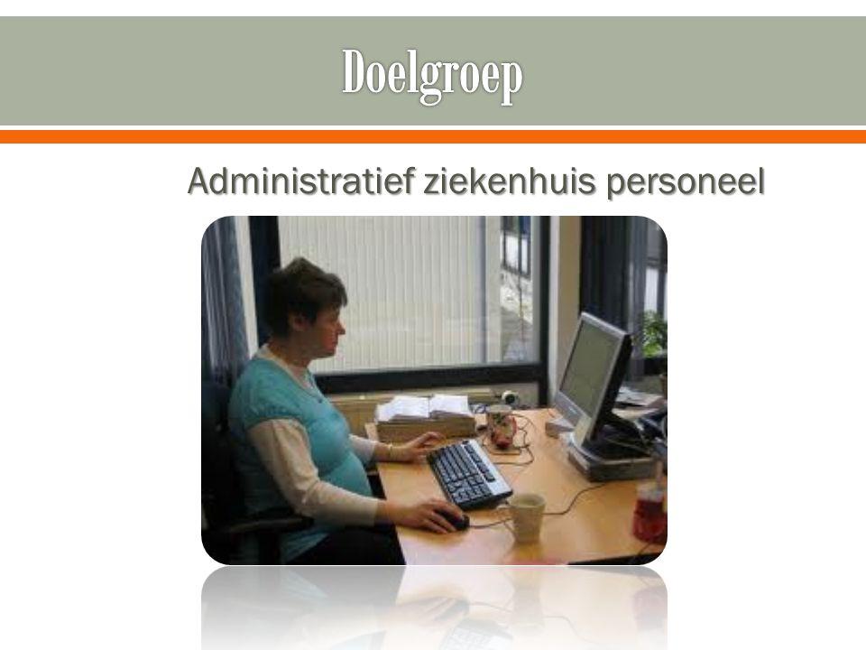 Administratief ziekenhuis personeel