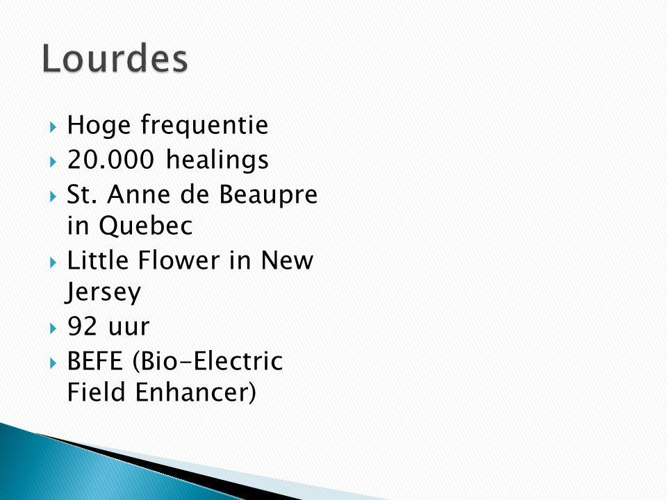 Lourdes Hoge frequentie 20.000 healings St. Anne de Beaupre in Quebec