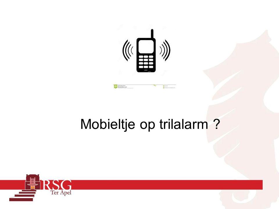 Mobieltje op trilalarm