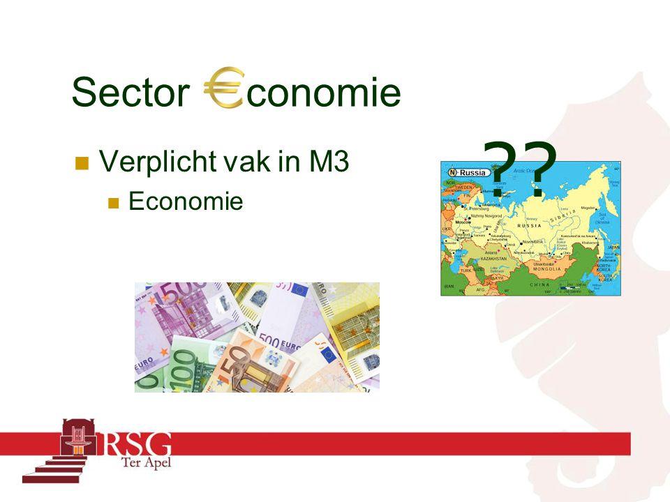 Sector conomie Verplicht vak in M3 Economie