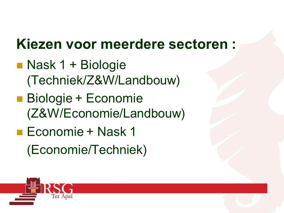 Kiezen voor meerdere sectoren :