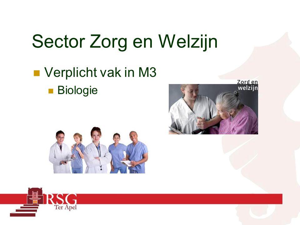Sector Zorg en Welzijn Verplicht vak in M3 Biologie