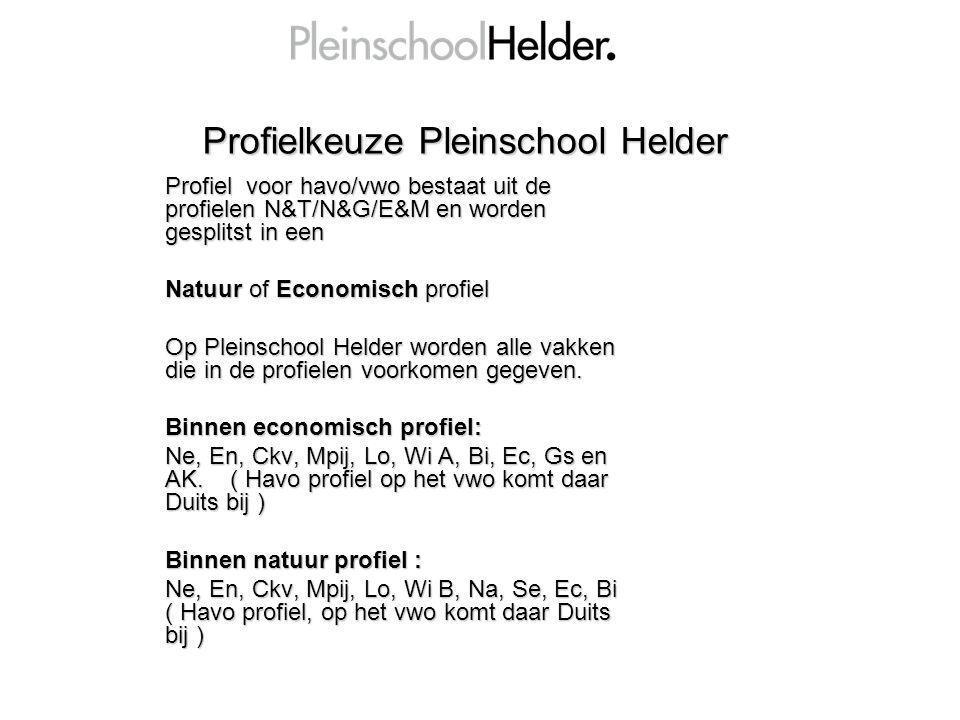 Profielkeuze Pleinschool Helder