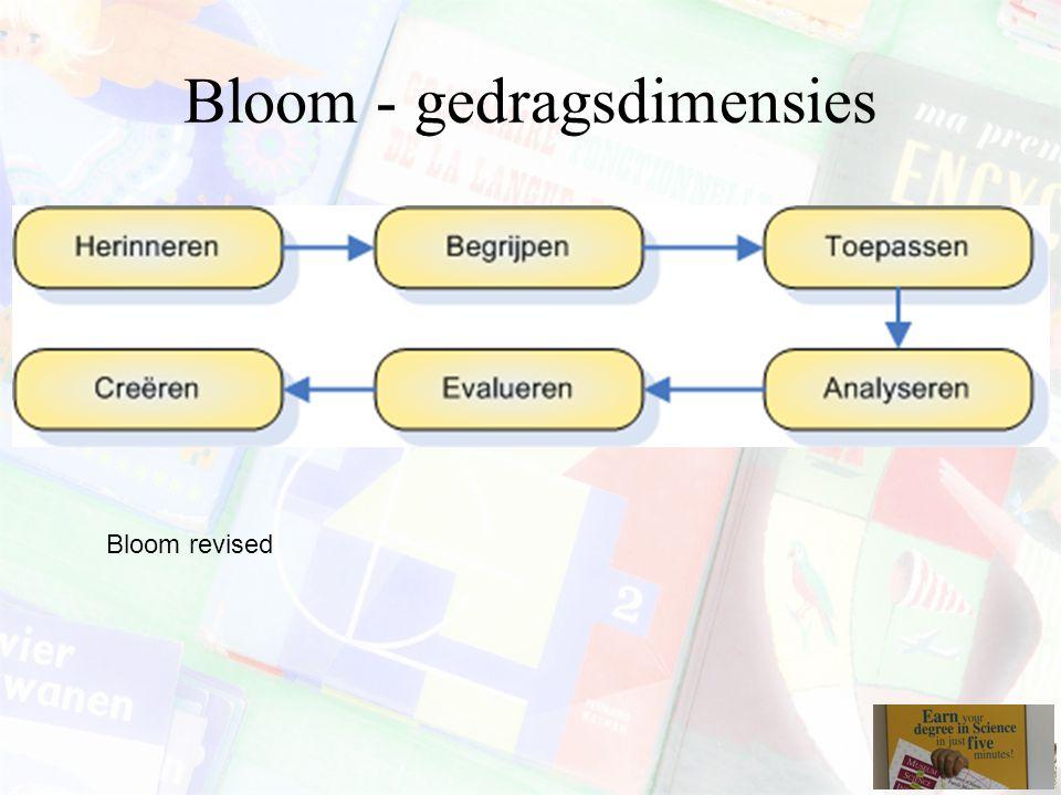 Bloom - gedragsdimensies