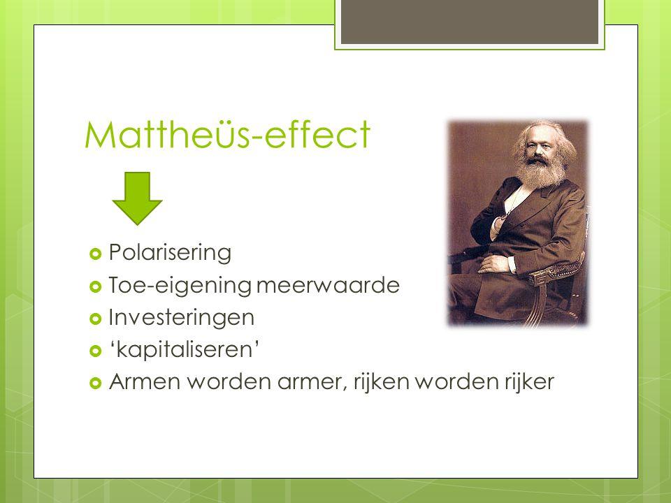 Mattheüs-effect Polarisering Toe-eigening meerwaarde Investeringen