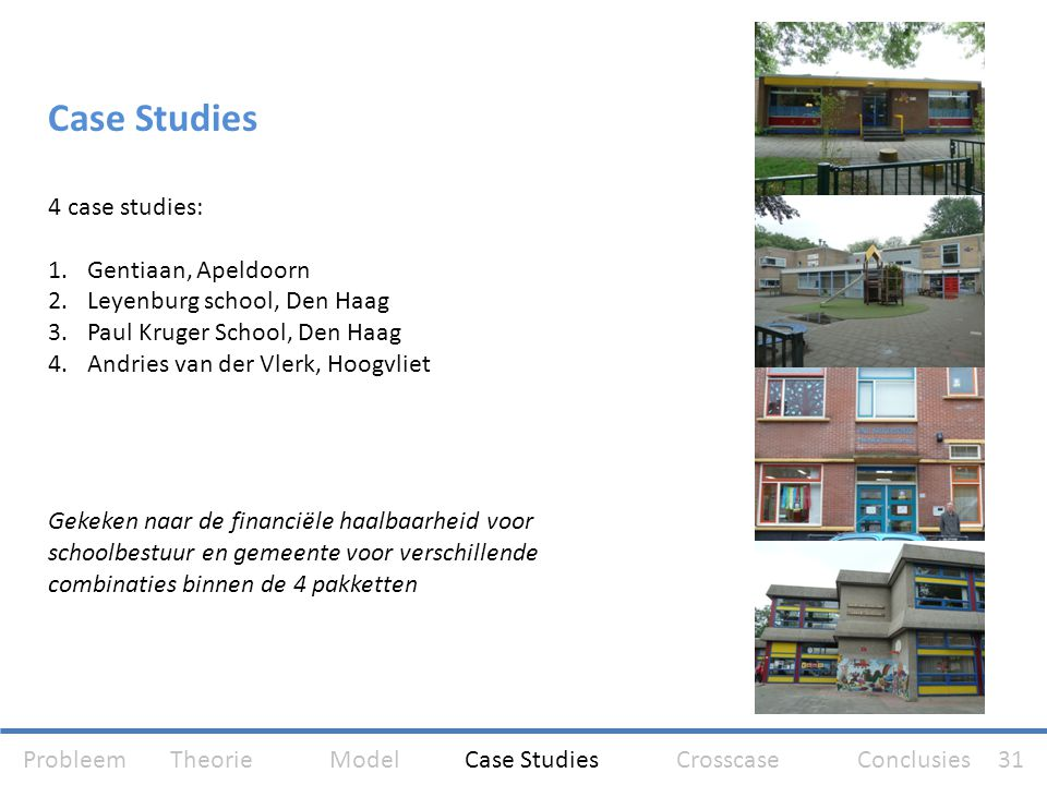 Case Studies 4 case studies: Gentiaan, Apeldoorn