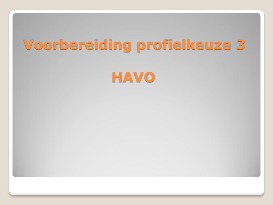 Voorbereiding profielkeuze 3 HAVO