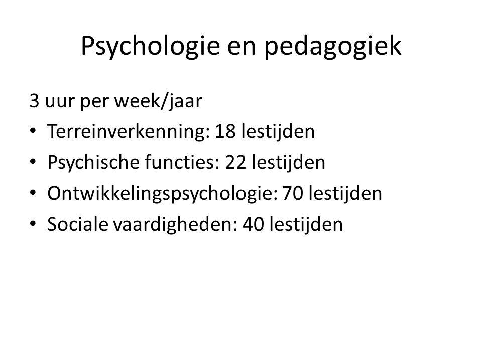 Psychologie en pedagogiek