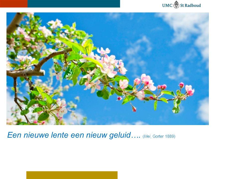 Een nieuwe lente een nieuw geluid…. (Mei, Gorter 1889)